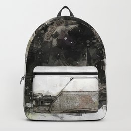 retro camera illustration / painting /drawing  2 Backpack