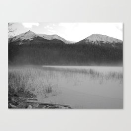 Cabin Lake Canvas Print