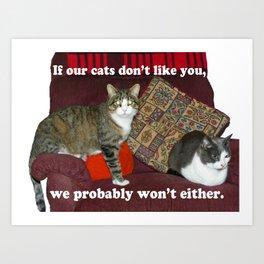 Cat Meme Art Print