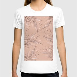 Rose Gold Palm Leaves 3 T-shirt