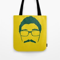 coyote Tote Bags featuring Coyote by Wolves In Space