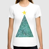 christmas tree T-shirts featuring Christmas tree by Bridget Davidson