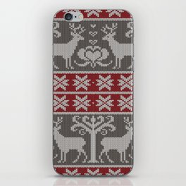 Ugly knitted Sweater iPhone Skin