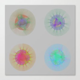 Orbital Mandalas 2x2 Array #1 Astronomy Print Wall Art Canvas Print