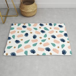 turquoise, navy, pink & gold Rug