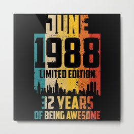 september 1988 Limited Edition 33 Years Metal Print