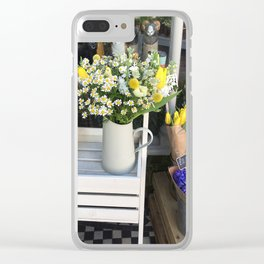 At the florists Clear iPhone Case