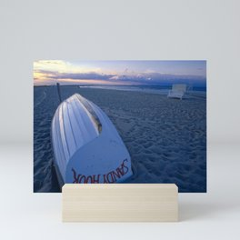 Boat on the New Jersey Shore at Sunset, Sandy Hook Mini Art Print