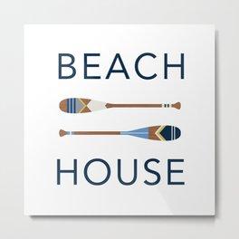 Beach House Paddles Metal Print