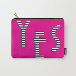 YES Poster | Pink Stripe Pattern Carry-All Pouch