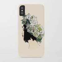 geisha iPhone & iPod Cases featuring Geisha by Hypathie Aswang