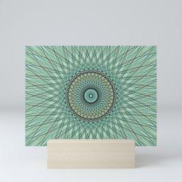 Abstract Colorful Spiritual Mandala c14207 Mini Art Print