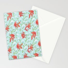 Goldfish, Mask and Magnolia Pattern Stationery Cards