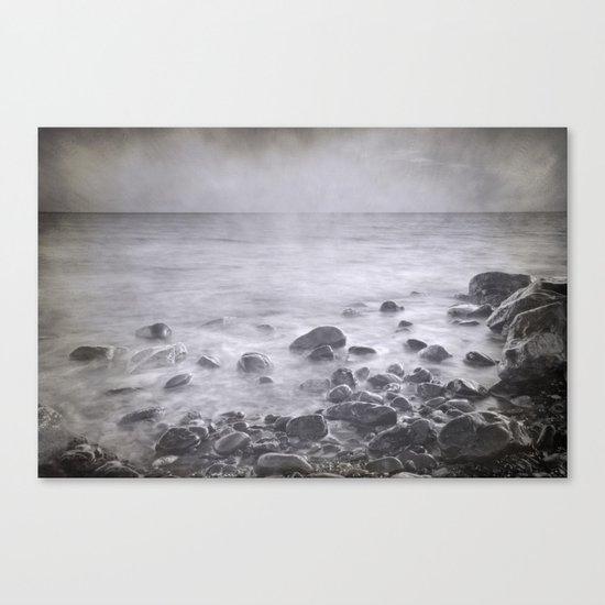 """Black sea rocks"" Canvas Print"