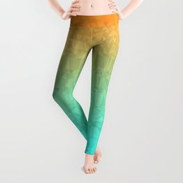Blue and Orange Ombre - Flipped Leggings