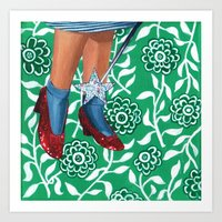 dorothy Art Prints featuring Dorothy by gasbombgirl
