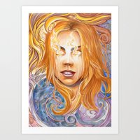bad wolf Art Prints featuring Bad Wolf by Mountain Laurel Arts