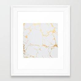 Oro Marble  Framed Art Print