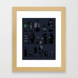 The Horrors of Queuing Framed Art Print