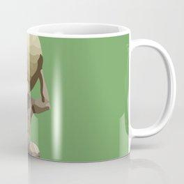 Man with Big Ball Illustration green Coffee Mug