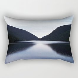 Mountain Lake Reflection Rectangular Pillow