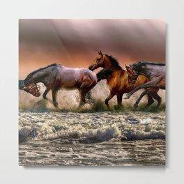 Runing Horses Metal Print