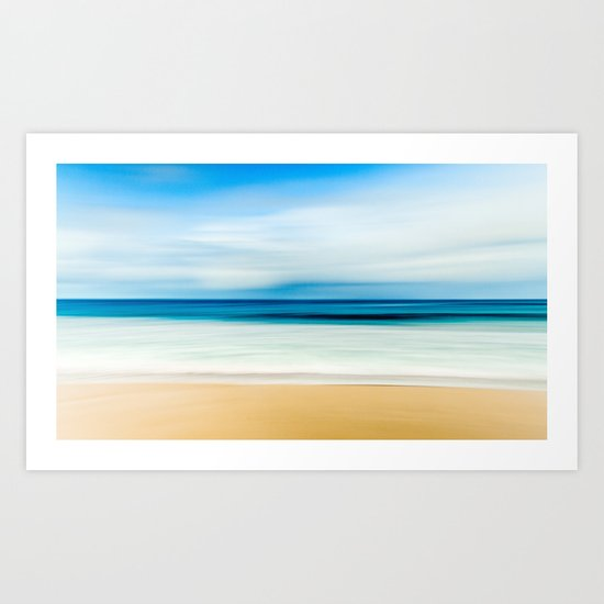 Blurred Beach Art Print
