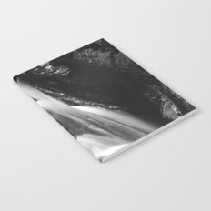 Black and white waterfall in Hell Gorge, Slovenia Notebook