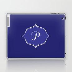 P Monogram Royal Blue Laptop & iPad Skin