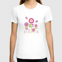 mod T-shirts featuring MOD GARDEN by Daisy Beatrice
