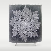fractal Shower Curtains featuring Fractal by Doodle Frisson