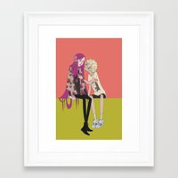 halo Framed Art Prints featuring halo by ♡ SUSHICORE ♡