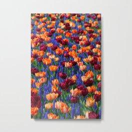 Flowerbed Medley Metal Print