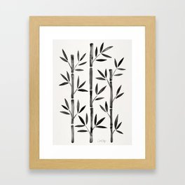 Black Bamboo Framed Art Print