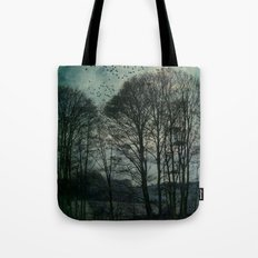 Textured Trees Tote Bag