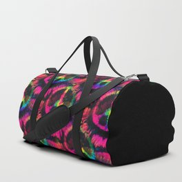 Hot Pink Peace Tie Dye Duffle Bag