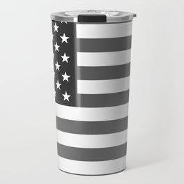 National flag of the USA, B&W version Travel Mug