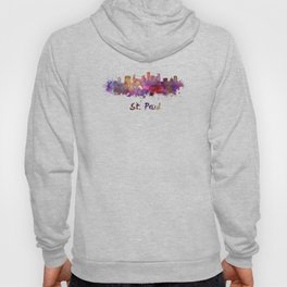Saint Paul skyline in watercolor Hoody
