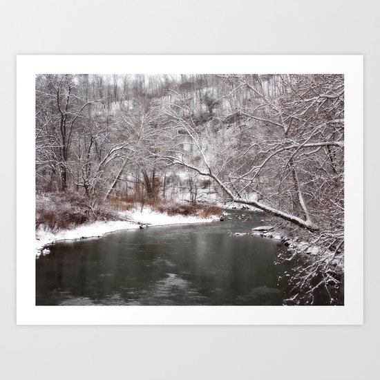 Frosty Creek Art Print