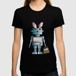 Cute Robot Easter Bunny Eggs graphic T-shirt