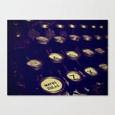 Maquina de palabras ( Machine words ) Canvas Print