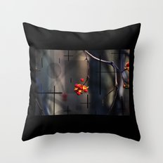 Berries And Mystical Shapes Throw Pillow