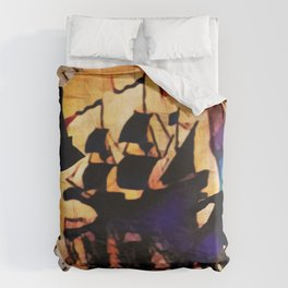 Kaz and Inej - crawl Duvet Cover