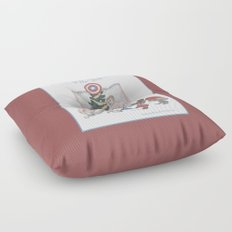 Team Cap Naughty Pinup Holiday Card Floor Pillow