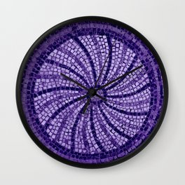 Ultra Violet Stone Tiles 18-3838 Wall Clock