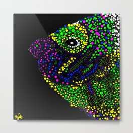 Angel Fish Circles Metal Print