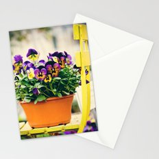 pansies III Stationery Cards