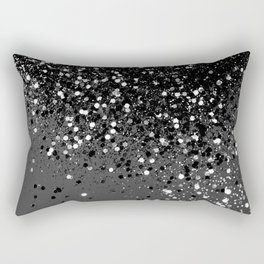 Dark Gray Black Lady Glitter #1 #shiny #decor #art #society6 Rectangular Pillow
