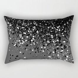 Dark Gray Black Lady Glitter #1 #shiny #decor #art #society6 Rectangular Pillow