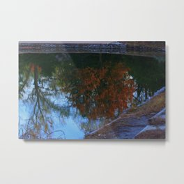 Kansas Fall Reflection Metal Print